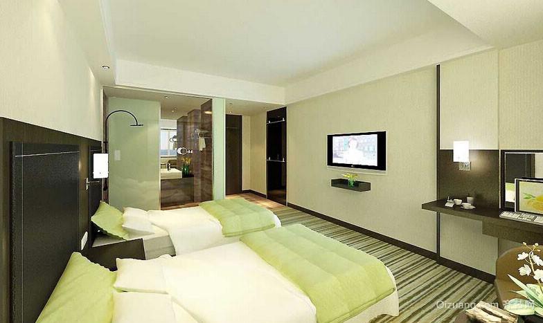 都市简约小宾馆房间装修效果图