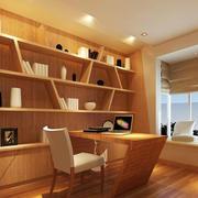 日式简约风格原木色书架装饰