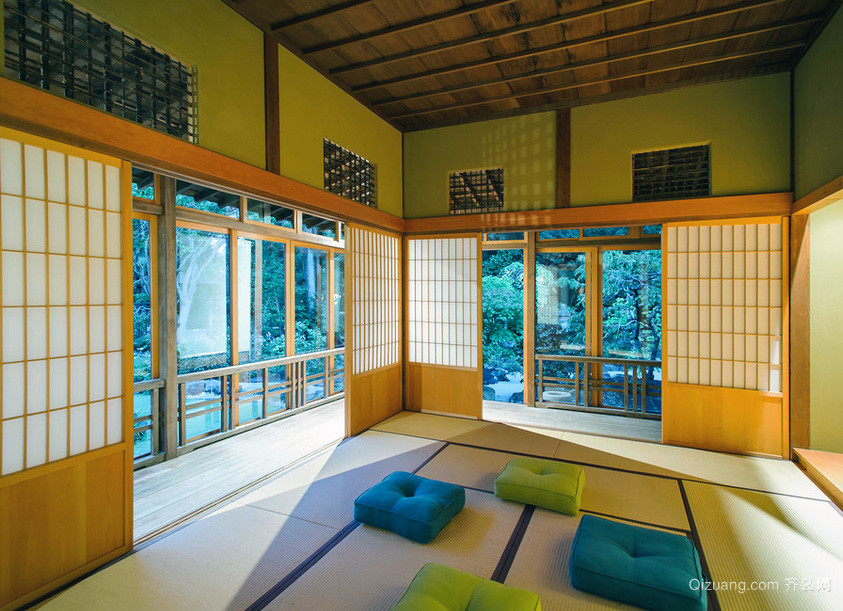 日式大户型卧室榻榻米装修效果图