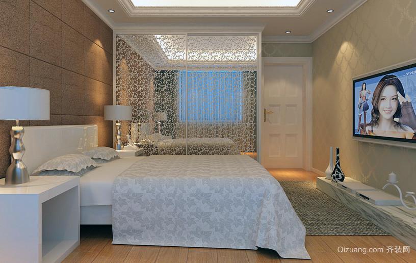 精致独特的大户型卧室背景墙装修效果图