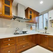 室内厨房美式实木橱柜