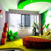 现代儿童房窗帘设计
