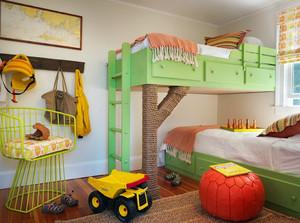 孩子健康成长:童真色调儿童房装修效果图