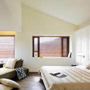 欧式简约原木卧室背景墙