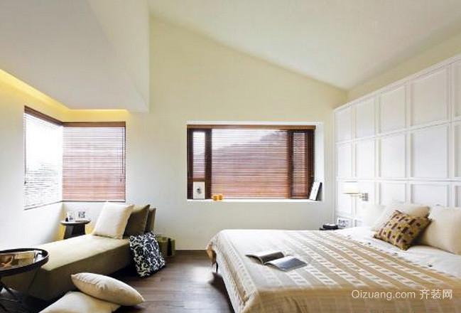 两室一厅简约风格纯白色卧室床头背景墙