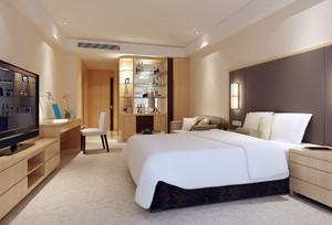 都市现代化宾馆卧室