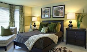 容纳3人的精美型卧室装修效果图