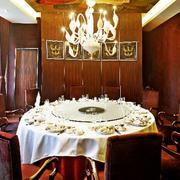 中式简约风格酒楼桌椅装饰