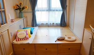 仿日式 舒适型卧室榻榻米装修效果图