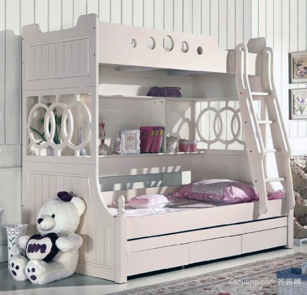 现代精致的儿童高低床装修效果图
