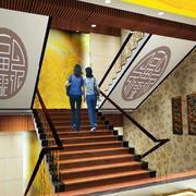 大型博物馆楼梯间装饰