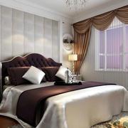 欧式浅色软包卧室背景墙