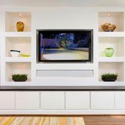 现代简约白色电视柜