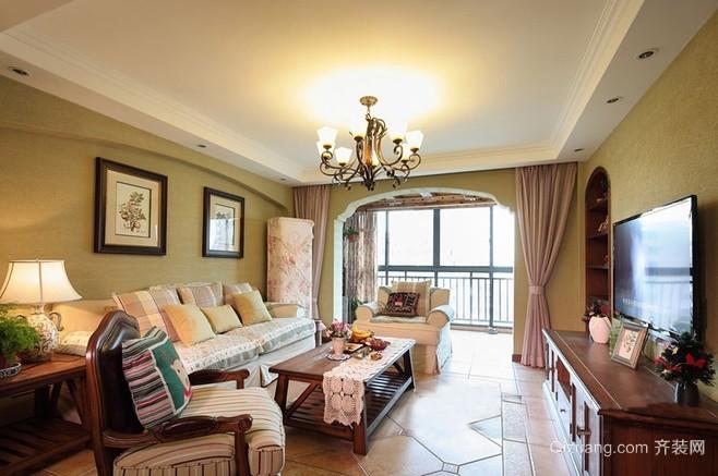 田园美式混搭风格三居室室内设计效果图