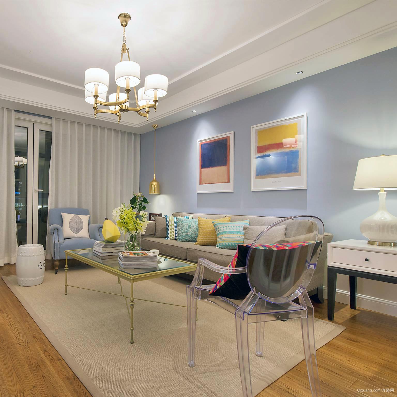 100平米复式小户型家居内部装修设计图