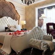 欧式奢华豪宅卧室飘窗装饰