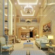 大型奢华客厅高挑复式装饰
