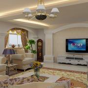 田园风格客厅电视背景墙装饰