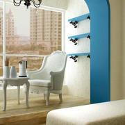 地中海风格简约阳台置物架装饰