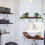 卫生间简约风格洗漱池装饰