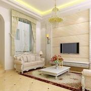 奢华客厅简欧风格地板装饰