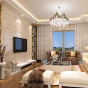 奢华客厅电视背景墙装饰