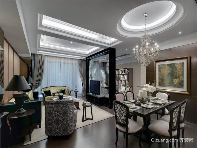 轻奢主义者喜爱的简约三室两厅装修效果图