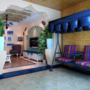 地中海风格阳台吊椅装饰