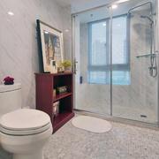 白色唯美型小户简洁卫生间
