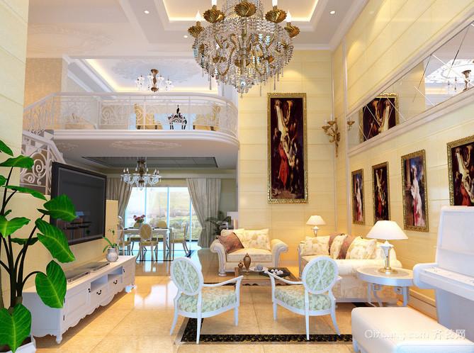 视觉享受:大户型欧式客厅装修效果图