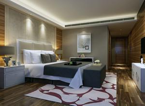 大户型现代简约装修卧室样板间效果图