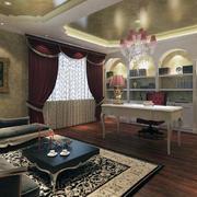 唯美的书房窗帘设计