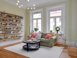 北欧风格简约客厅地板装饰