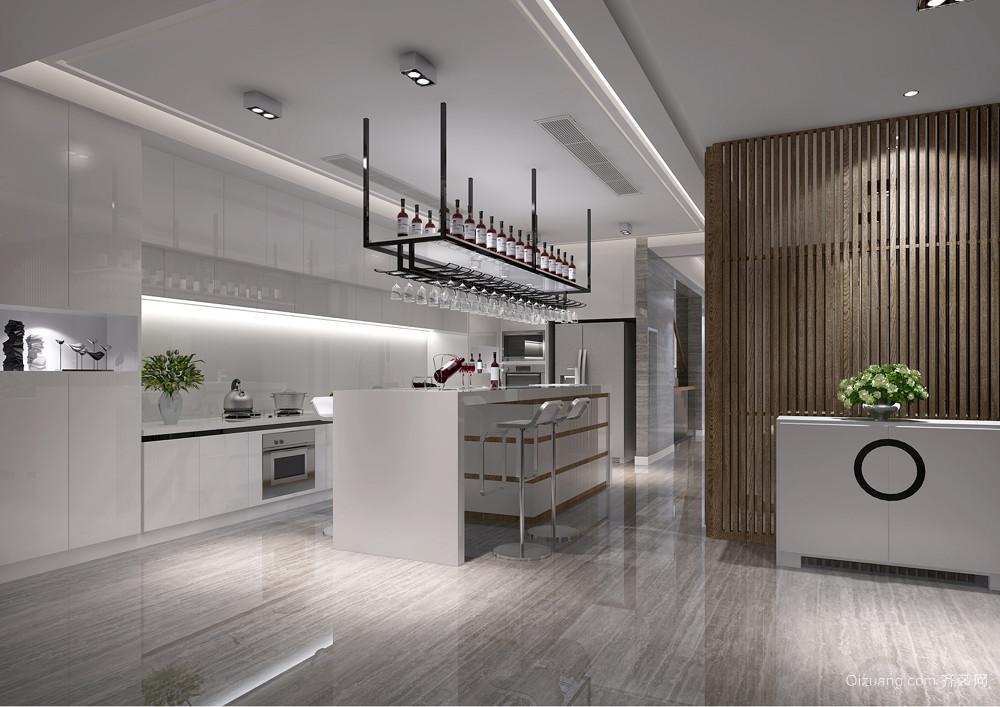 2015经典美式小户型厨房装修案例图