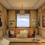 日式经典风格榻榻米背景墙装饰