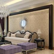 豪华客厅沙发背景壁纸