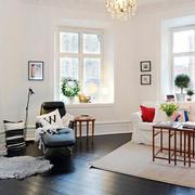 北欧风格简约客厅地板设计