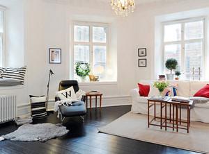 简约风格客厅菲林格尔木地板效果图