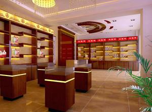 有中式韵味的烟酒店装修效果图