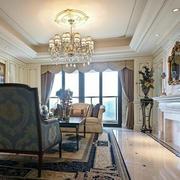 法式风格别墅客厅石膏板装饰