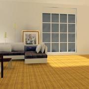 现代简约风格客厅地板设计