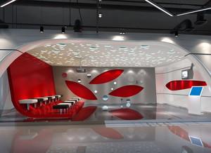 各式各样简约风格展厅装饰效果图