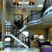 大型复式楼简约风格客厅茶几效果图