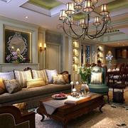 法式风格经典白色客厅沙发装饰