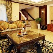 欧式经典风格客厅茶几设计