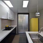 超美的精致型家居客厅小厨房台面