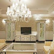 法式风格别墅客厅电视背景墙