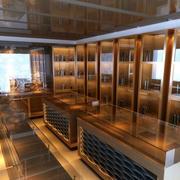 现代烟酒店玻璃展示柜