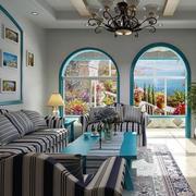 地中海客厅简约家居装饰