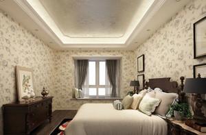 色调丰富的卧室壁纸装修效果图片